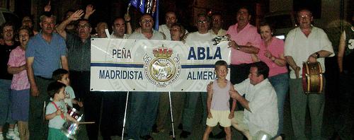 Peña madridista de Abla, celebra la liga