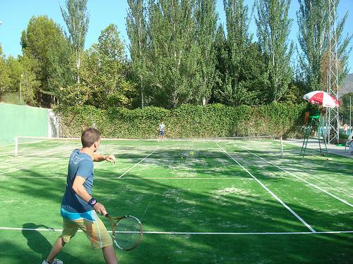 Abla tenis césped