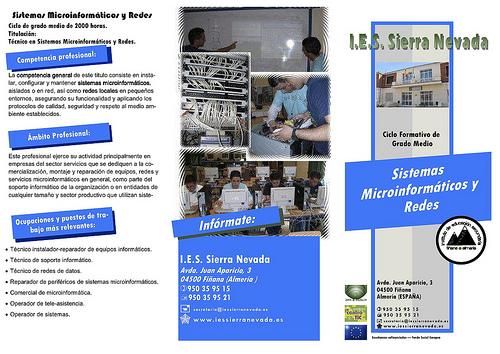 Ciclo Formativo de Informática en el IES 'Sierra Nevada'